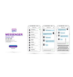 messenger social network chat interface vector image