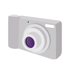 Modern camera cartoon icon vector