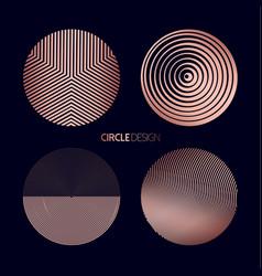 modern circle shape set in copper color vector image