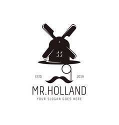 Modern vintage hipster mr holland glasses vector