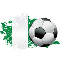 Nigeria Soccer Grunge vector