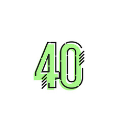 Number 40 template design design for anniversary vector