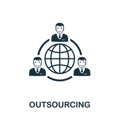 Outsourcing icon symbol creative sign from vector