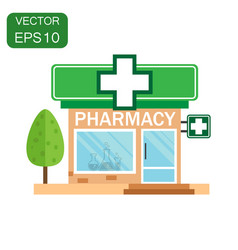 Pharmacy drugstore shop icon business concept vector