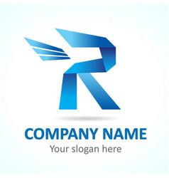 r fly logo vector image