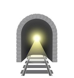 realistic detailed 3d railroad tunnel vector image