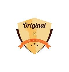 retro premium badge label vector image