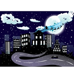 Santa Claus Coming to City8 vector