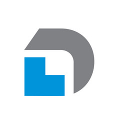 simple letter d initial logo vector image