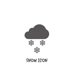 snow icon simple flat style vector image