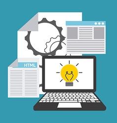 software development vector image