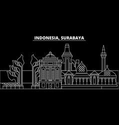 Surabaya silhouette skyline indonesia - surabaya vector