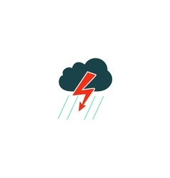 Thunderstorm icon vector