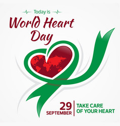 today is world heart day 29 september vector image