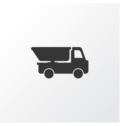 Truck icon symbol premium quality isolated dumper vector