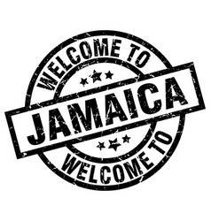 welcome to jamaica black stamp vector image