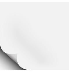 White piece of paper with corner fold curl vector image