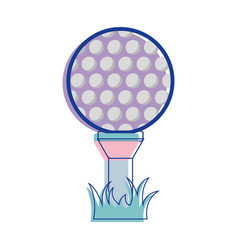 Golf ball play game field vector