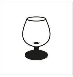 transparent glass goblets in monochrome style vector image vector image