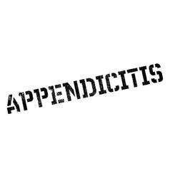 Appendicitis rubber stamp vector