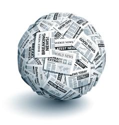 newspaper ball vector image