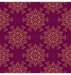Seamless Mandala Pattern over purple vector image vector image