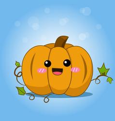 cute halloween pumpkin with splash vector image