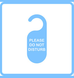 dont disturb tag icon vector image