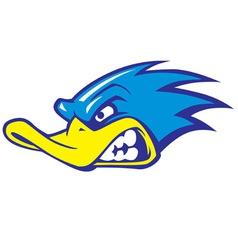 fast duck mascot vector image vector image
