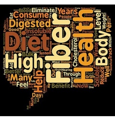 How does a high fiber diet help your health text vector