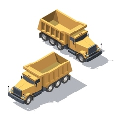 Isometric construction truck tipper vector image