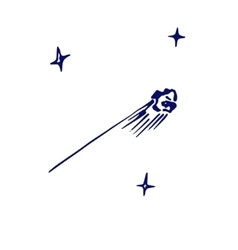 sketch of a meteorite vector image vector image