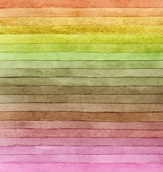 Watercolor colorful brush strokes striped vector image