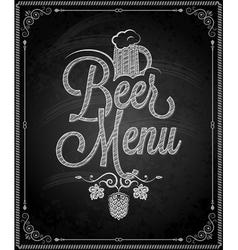 chalkboard beer vector image vector image