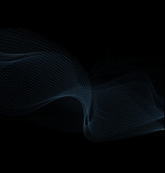 dark blue abstract dotted sci-fi tech background vector image