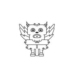 design character monster bird vector image