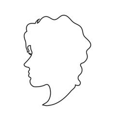 Isolated woman head profile design vector
