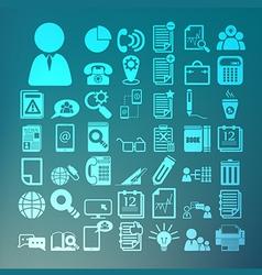 Office icons set Retina vector image