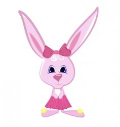 rabbit girl vector image vector image