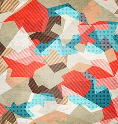 vintage fabric seamless pattern with grunge effect vector image