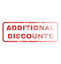 Additional discounts rubber stamp vector
