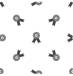American emblem pattern seamless black vector
