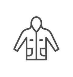 anorak line icon vector image