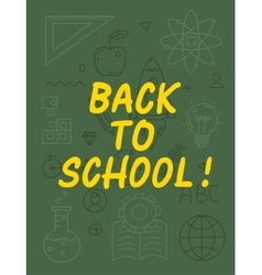 Back to school text with various education icon vector image