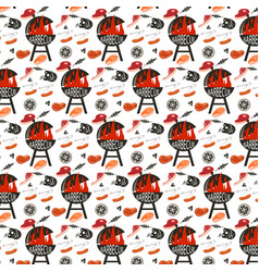 background seamless bbq vector image