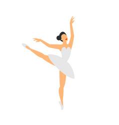 Ballet dancer dancing ballerina on a white vector