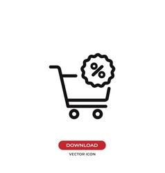 bargain icon vector image