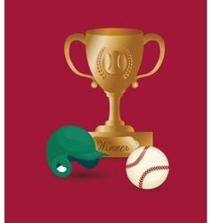 Baseball ball hat cup vector