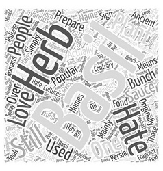 Basil Word Cloud Concept vector