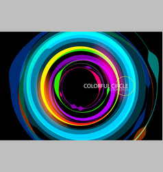 Beautiful colorful circle vector